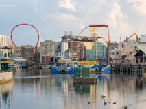 The Universal Studios Florida theme park. ORLANDO,USA - AUGUST 23, 2014 : General view of the Universal Studios Florida theme park stock photo