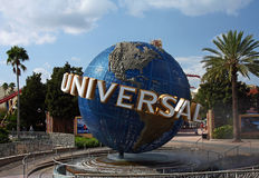 Universal Studios Globe Stock Photo