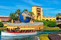 The Universal Studios Globe In Orlando Florida. ORLANDO FL, USA - JANUARY 9, 2019: Universal Studios globe located at the entrance to the theme park. Universal stock photos