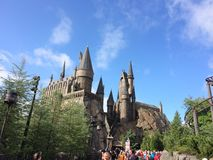 Universal studios Harry potter, Hogwarts school of magic in orlando florida Stock Images
