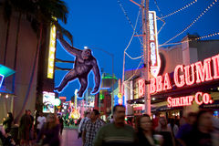 Universal Studios Hollywood Citywalk Royalty Free Stock Photo