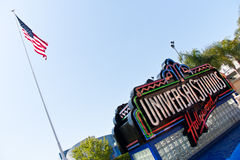 Universal Studios Hollywood Logo in Los Angeles Stock Images