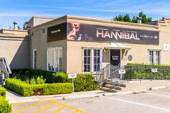 Universal Studios Hollywood Park, Los Angeles, USA. LOS ANGELES, USA - SEP 27, 2015: Hannibal pavilion at the Hollywood Universal Studios. Universal Pictures Royalty Free Stock Image