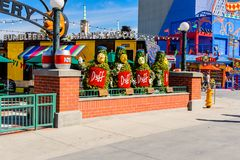 Universal Studios Hollywood Park, Los Angeles, USA. LOS ANGELES, USA - SEP 27, 2015: Duff Brewery at The SImpsons area of the Universal Studios Hollywood Park Royalty Free Stock Photo
