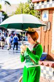 Universal Studios Hollywood Park, Los Angeles, USA. LOS ANGELES, USA - SEP 27, 2015: Fiona in Shrek area in the Universal Studios Hollywood Park. Shrek is a 2001 Stock Image