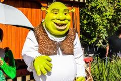 Universal Studios Hollywood Park, Los Angeles, USA. LOS ANGELES, USA - SEP 27, 2015: Shrek in  the Shrek area in the Universal Studios Hollywood Park. Shrek is a Stock Photography