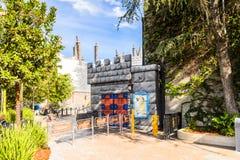 Universal Studios Hollywood Park, Los Angeles, USA. LOS ANGELES, USA - SEP 27, 2015: Shrek 4D area in the Universal Studios Hollywood Park. Shrek is a 2001 Stock Image