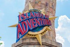 Universal Studios Islands of Adventure Sign Stock Photo