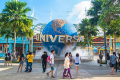 Universal Studios on January 26, 2014 in Sentosa island, Singapore Stock Photo