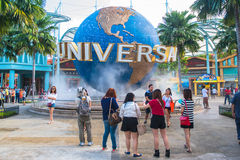 Universal Studios on January 26, 2014 in Sentosa island, Singapore Royalty Free Stock Photo