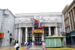 Universal Studios Japan. The Amazing Adventures of Spider-Man in Universal Studios Japan stock photography