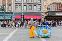 Universal Studios Japan (USJ) Event Summer Parade. OSAKA, JAPAN - Aug 26, 2017: Universal Studios Japan (USJ) Event Summer Parade. Most visitors are Japanese royalty free stock photos