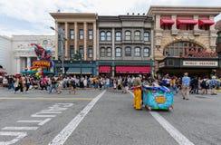 Universal Studios Japan (USJ) Event Summer Parade. OSAKA, JAPAN - Aug 26, 2017: Universal Studios Japan (USJ) Event Summer Parade. Most visitors are Japanese stock images