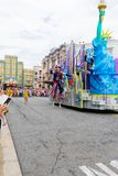 Universal Studios Japan (USJ) Event Summer Parade. OSAKA, JAPAN - Aug 26, 2017: Universal Studios Japan (USJ) Event Summer Parade. Most visitors are Japanese royalty free stock photography