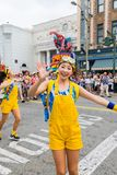 Universal Studios Japan (USJ) Event Summer Parade. OSAKA, JAPAN - Aug 26, 2017: Universal Studios Japan (USJ) Event Summer Parade. Most visitors are Japanese stock image