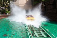 Universal Studios Jurassic Water Ride royalty free stock images