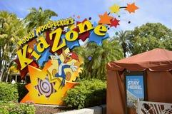 Universal Studios nehmen Woody Woodpecker Kinderzone Zuflucht stockbild