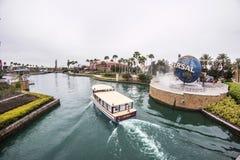 Universal Studios Orlando. Universal Studios theme park - Universal Studios symbol - Entrance - Orlando/FL - USA Royalty Free Stock Photos