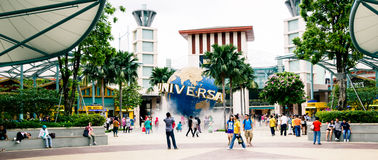 Universal Studios park. Universal Studios on the Sentosa island park, Singapore Royalty Free Stock Photos
