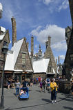 Universal Studios Resort Hogsmeade village. Universal Studios Resort, Orlando, Florida, USA - October 24, 2016: The Wizarding World of Harry Potter Stock Images