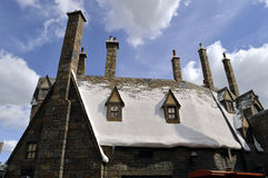 Universal Studios Resort Hogsmeade Village Rooftops. The Wizarding World of Harry Potter Stock Image