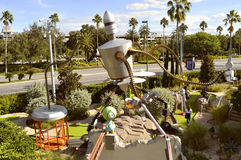 Universal Studios Resort Hollywood Drive In Golf miniature golf Royalty Free Stock Photo