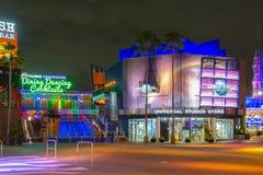 Universal Studios at night in Universal Orlando, FL, USA. Universal Studios Store at night at CityWalk at Universal Studios Park in Orlando, Florida, USA stock image