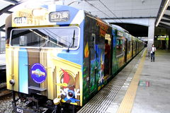 Universal Studios Train. This train is go to Universal Studios Japan from Osaka Stock Photo