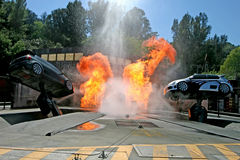 Universal Studios Tram Tour Stunt Cars Stock Photography