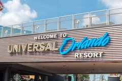 Universal Studios Welcome sign at Citywalk Royalty Free Stock Photography