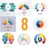 Universal templates elements Infographics conceptual cyclic proc royalty free illustration