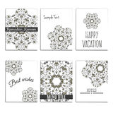 6 universal templates with moroccan islamic ornament. 6 universal templates for menu cover, wedding card, book cover with moroccan islamic ornament Royalty Free Stock Photos