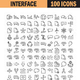Universal thin line icon set Stock Photos