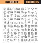Universal thin line icon set Royalty Free Stock Image