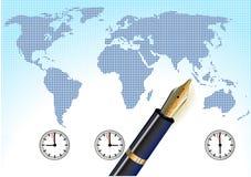 Universal time, global royalty free illustration