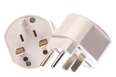 Universal Travel Adapter Isolated Royalty Free Stock Photo