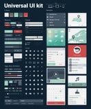 Universal-UI-Ausrüstung für Entwicklung der Website/APP