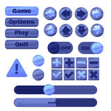 Universal UI Kit for designing responsive gaming applications and mobile online games, websites, mobile apps and user interface. Stock Images