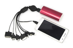Universal USB cell phone charger Stock Images