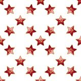 Universal vector badge Soviet Union stars seamless Royalty Free Stock Photos