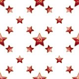 Universal vector badge Soviet Union stars seamless Royalty Free Stock Photos