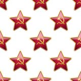 Universal vector badge Soviet Union stars seamless Royalty Free Stock Images