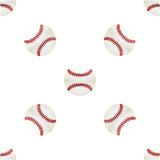 Universal vector baseball seamless patterns tiling Royalty Free Stock Images