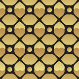 Universal vector black and gold seamless pattern tiling. Stock Images