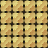 Universal vector black and gold seamless pattern tiling. Royalty Free Stock Image