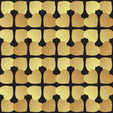 Universal vector black and gold seamless pattern tiling. Stock Photography