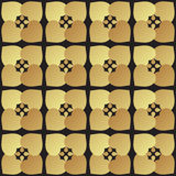 Universal vector black and gold seamless pattern tiling. Royalty Free Stock Images