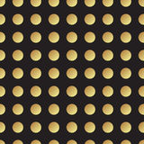 Universal vector black and gold seamless pattern, tiling. Stock Photos
