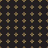 Universal vector black and gold seamless pattern, tiling. Stock Photography