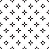 Universal vector black and white seamless pattern (tiling). Stock Photo
